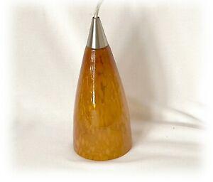 Portfolio Amber Tiger Glass Track Pendant Ceiling Hanging Light #262679 NOB