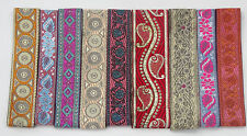 30 yards - 15 Pieces lot - each piece 02 yards Jacquard Trim  LT77