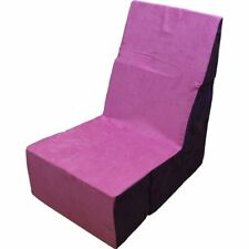 Folding Foam Chair - Converts From Recliner to Cube, Pink 18.7 x 18 x 17.6 - New