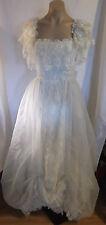 80s Loralie White Victorian Style Wedding ? Dress