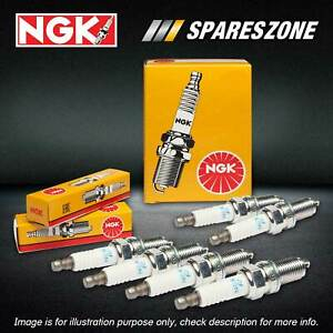 6 NGK Standard Spark Plugs for Daewoo Musso 3.2L 6Cyl MPFI DOHC 161kW 1998-2002