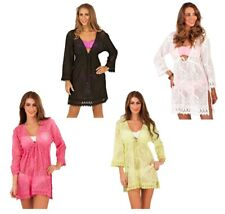 Half Price Sale Womens Crochet Kaftan Beachwear Cover Up Tunic Top Mini Dress