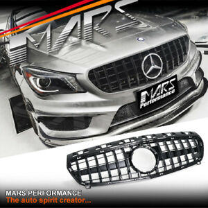 Gloss AMG GT Style Bumper Bar Grille Gril for Mercedes A-Class W176 & A45 12-15