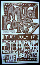 MUDHONEY Kennel Club 1990 CONCERT POSTER Thee Headcoats MELVINS Minty! Nirvana