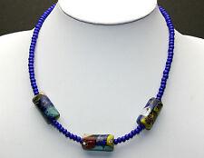 Afrika Halskette / African Necklace mit Millefiori beads