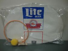 NOS Vintage 25th Anniversary Sixers 76ers Miller Lite Backboard