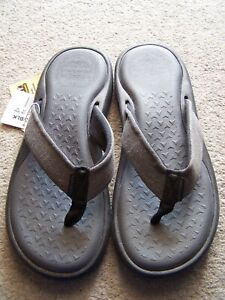 MENS-SKECHERS RELAXED FIT-MEMORY FOAM{360} FLIP FLOPS - NEW WITH TAG-UK 9
