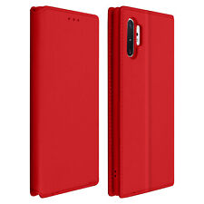 Funda Samsung Galaxy Note 10 Plus libro billetera F. Soporte - Rojo