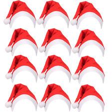 Al Por Mayor Navidad Sombrero Sombrero De Santa Con Navidad Unisex Adultos Niños Talla Blanco Clásico
