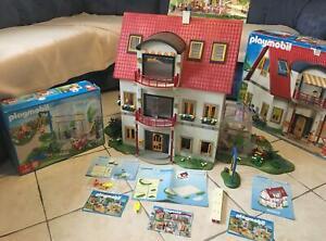 Playmobil Wohnhaus 4279 + Etagenerweiterung 7387 + Wintergarten 4281 Ausstattung