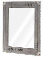 Wandspiegel NEW YORK Flurspiegel Kosmetikspiegel Rasierspiegel Bad Holz Spiegel