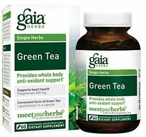 Gaia Herbs Green Tea, Vegan Liquid Capsules, 60 Count - Antioxidant Support and