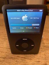 New ListingApple iPod Classic Black 120Gb Mp3 Player Retro Cool with No Reserve