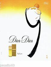 PUBLICITE ADVERTISING 116  1978  Dior Dior parfum par René Gruau