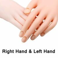 Flexible Fake Hand Nail DIY Nails Art Practice Training Hand Model Left & Right