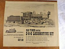 Roundhouse Old Timer Series 2-6-0 NYC Locomotive Kit - NEW IN BOX