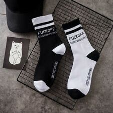 Fashion Mens Unisex Harajuku Cotton Skateboard Letter Socks Casual Soft Socks