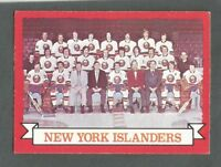 1973-74 OPC O-Pee-Chee Hockey New York Islanders Team #101 NMT+ Dark Back **2