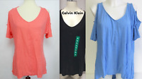 ✅NEW! Calvin Klein Jeans Ladies' Cold Shoulder Top VARIETY/COLORS/SIZES