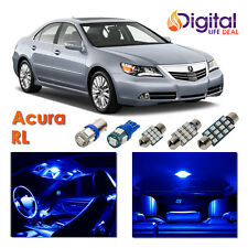12x Blue Interior LED Lights Package Kit for 2005 - 2009 2010 2011 2012 Acura RL