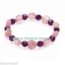 New listing Natural Iced Rose Cut Facet Amethyst Crystal Quartz Fashion Design Bracelet Gift