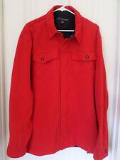Tommy Hilfiger Red Full Zip Fleece Windbreaker Snap Jacket Men's XL