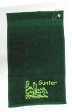 Golfhandtuch bestickt mit Name und Motiv,Golftuch bestickt, Geschenk
