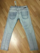NWT Mens MADE in ITALY Diesel KROOLEY NE JOGGJEANS 0672H Blue Slim W32 L30 H6.5.