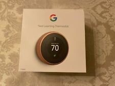 Google Nest 3rd Generation Smart Learning Thermostat Copper
