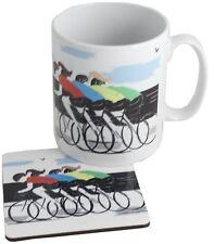 ciclismo cerámica taza y Posavasos Set de regalo