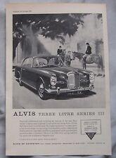 1963 Alvis 3-litre series III Original advert