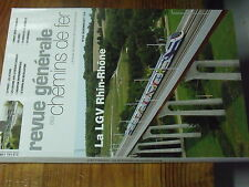 8µ? RGCF Revue Generale Chemin Fer n°210 La LGV Rhin Rhone Projet Gare Materiel