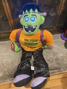 Halloween PBC Chantilly Lane Sound Activated Animated Frankenboogie Door Hanger!