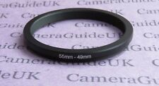 55mm to 49mm Male-Female Stepping Step Down Filter Ring Adapter 55mm-49mm UK