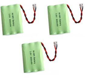 3  NiMH 3.6V Cordless Phone Battery For Radio Shack 43-3571 TAD-3704 TAD-3815
