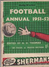 DAILY WORKER FOOTBALL ANNUAL ~ 1951-52 ~ NEWCASTLE UNITED / TOTTENHAM HOTSPUR