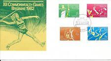 AUSTRALIA 1982 COMMONWEALTH GAMES F.D.C. 22/9/1982 BRISBANE;CANCEL = YASS;N.S.W.
