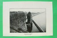 UM4) Marine Hafenbrücken in Helgoland Steilufer 1914-1918 Kriegsschiff 1.WK