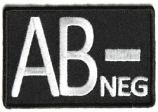 AB NEGATIVE Blood ID Patch - By Ivamis Trading - 3x2 inch P4330