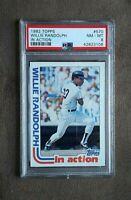1982 Topps Baseball Willie Randolph In Action Card #570 PSA Graded 8 NM~MT