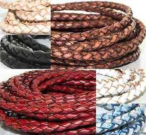 Lederband geflochten Lederschnur Lederriemen Lederbänder Echtleder