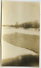 PHOTO ANCIENNE - LAC DÉGEL NEIGE GLACE CURIOSITÉ - LAKE SNOW - Vintage Snapshot
