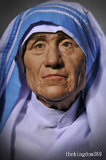 """Ultimate Collection """" Mother Teresa """" Statue Bust + Hair + Autograph Nt Sideshow"""