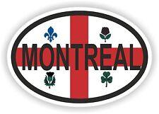 MONTREAL CANADA Autocollant OVAL avec drapeau Voiture Caravane Pare-choc casque