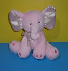 "First And Main Pink Baby Elephant Bean Tush Plush 9"" Named Kelli"