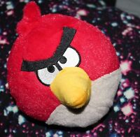 """Angry Bird Stuffed Red Bird Plush 7"""" w Coloring Book never used"""