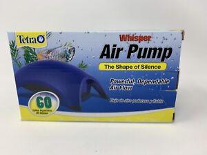 Whisper 60 Air Pump Tetra Aquarium Air Pump Fish Tank up to 60 Gallons TESTED!!!