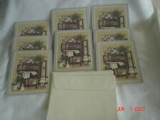 "FUN LOT 8 NEW Vtg. "" DOLLS SHOWCASE "" BLANK NOTE CARDS Made USA w/ 6 Envelopes"