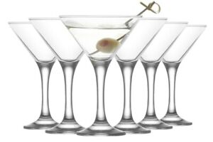 Martini Cocktail Drinking Party Glasses In Gift Box. 175ml (Pack of 6)