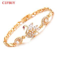 CIFBUY Vintage Swan Design Link Chain Woman Bracelets Cubic Zirconia Wed Jewelry